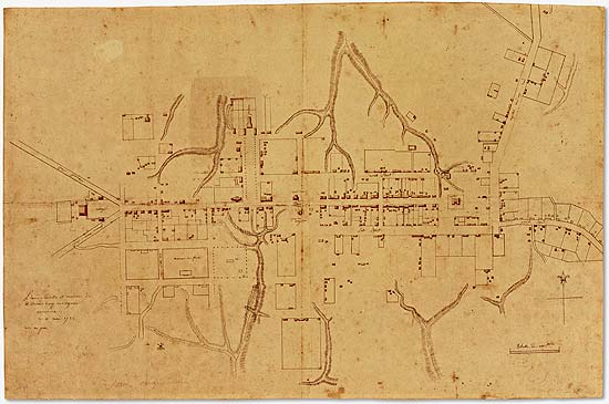 The Frenchman's Map, depicting Williamsburg as it appeared in 1782.