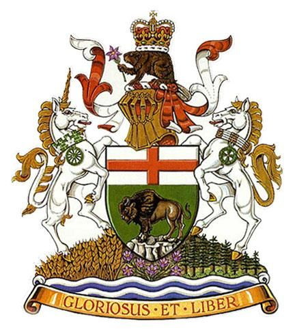The Manitoba Coat of Arms, granted in 1905 by a Royal Warrant of King Edward VII.