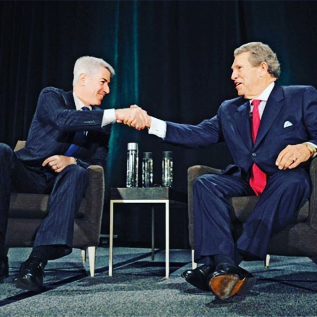 "This is Bill Ackman and Hunter Harrison. They look pretty happy, don't they?  Maybe it's because since 2012 these two Americans have turned Canadian Pacific Rail into one of the best performing railways in North America.  How did they do it? They implemented ""scheduled railroading"" which involves sticking to a rigid schedule, guaranteeing customers delivery within a certain number of hours....regardless of the safety risks.  Be it lumber or highly volatile crude oil these guys have one objective: profits.  The evidence? Ackman stepped down from @canadianpacific today with an estimated net worth of 1.7B USD 🤑🤑🤑 📷: @cdnbiz"