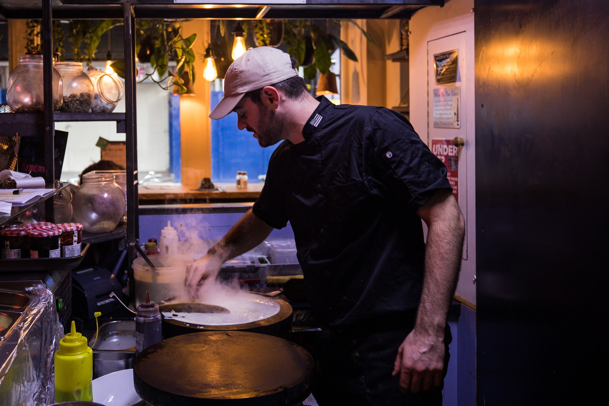 Allan head chef creperie mamies london
