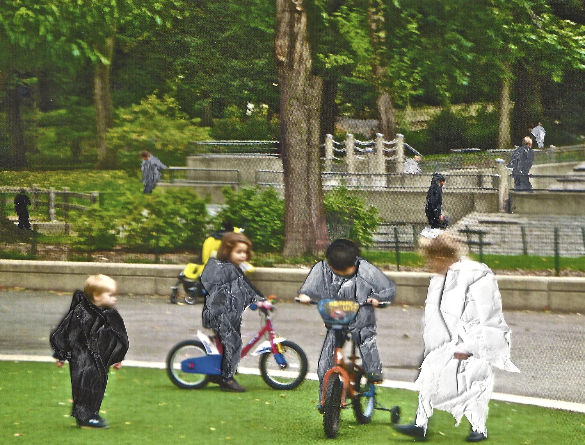 "Playground, Central Park, 2011 Inkjet print on photo paper,5"" x 7"""