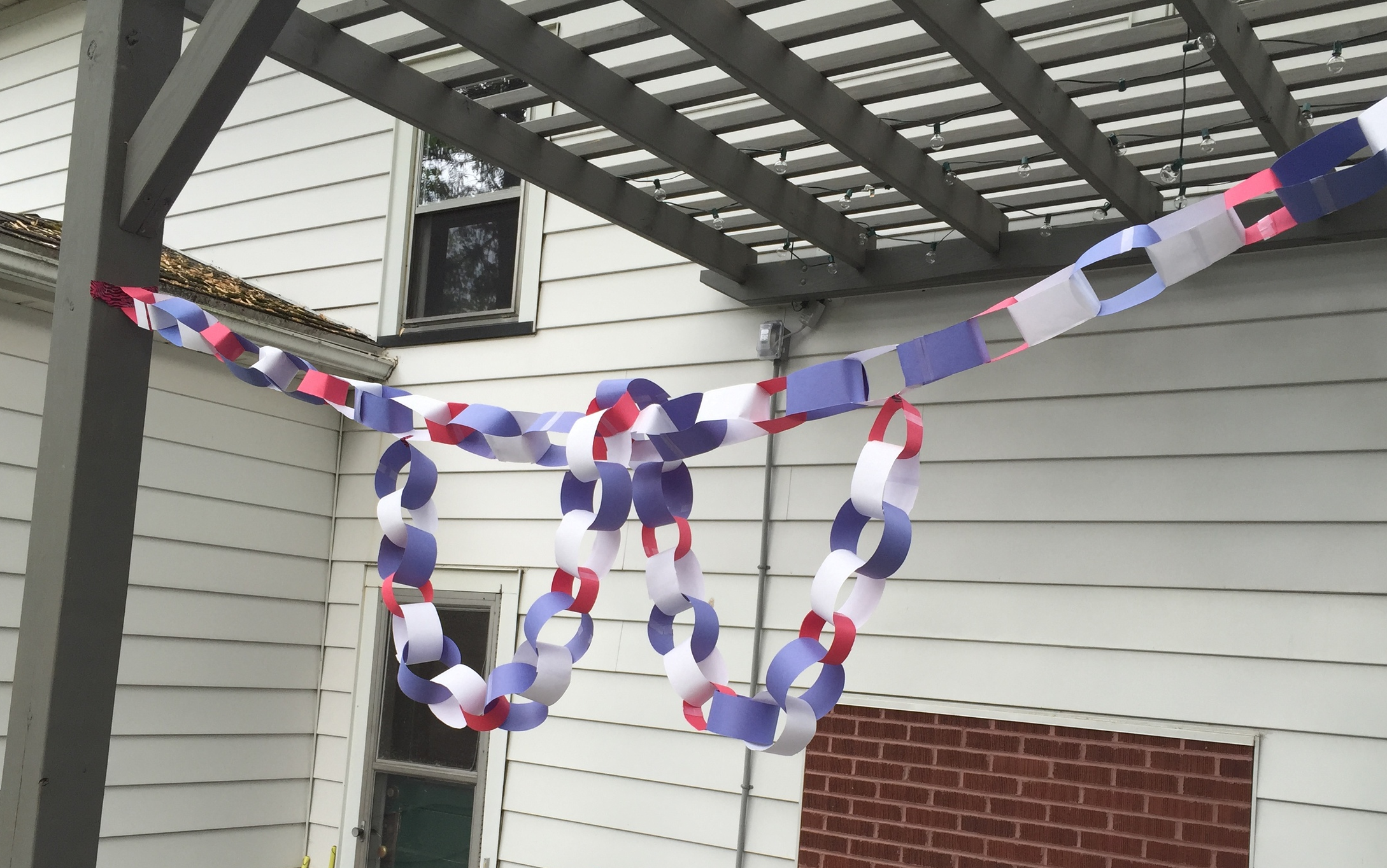 Paper chains courtesy of the Converter's kids.