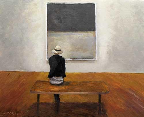 """Reverence for Rothko, Oil on Wood,10""""X8"""""""