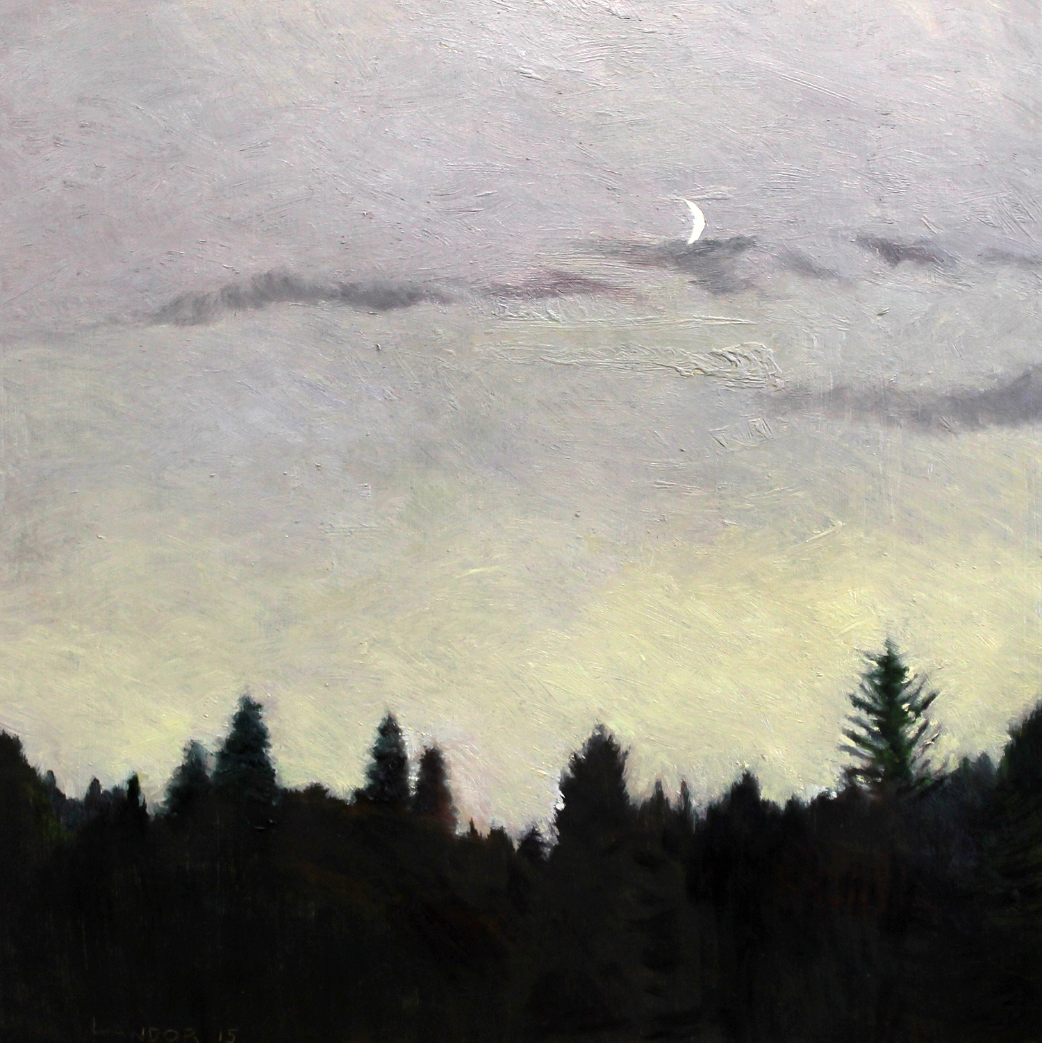 """Sonoma Summer Sunset ,Oil on Wood,12""""X12"""""""