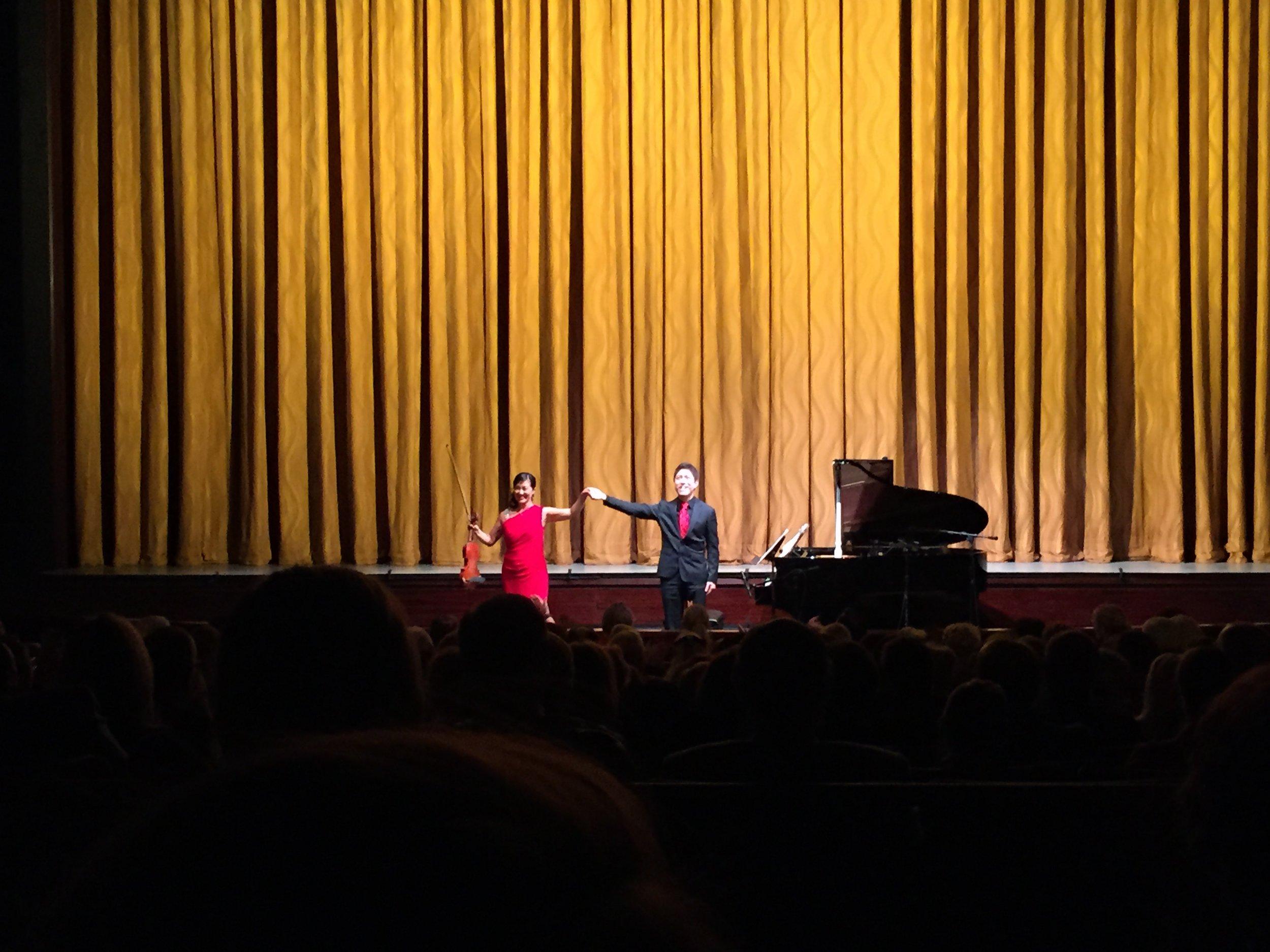 Machiko Ozawa and Ryo Yanagitani performed at Kennedy Center's Eisenhower Theatre in Oct, 2015