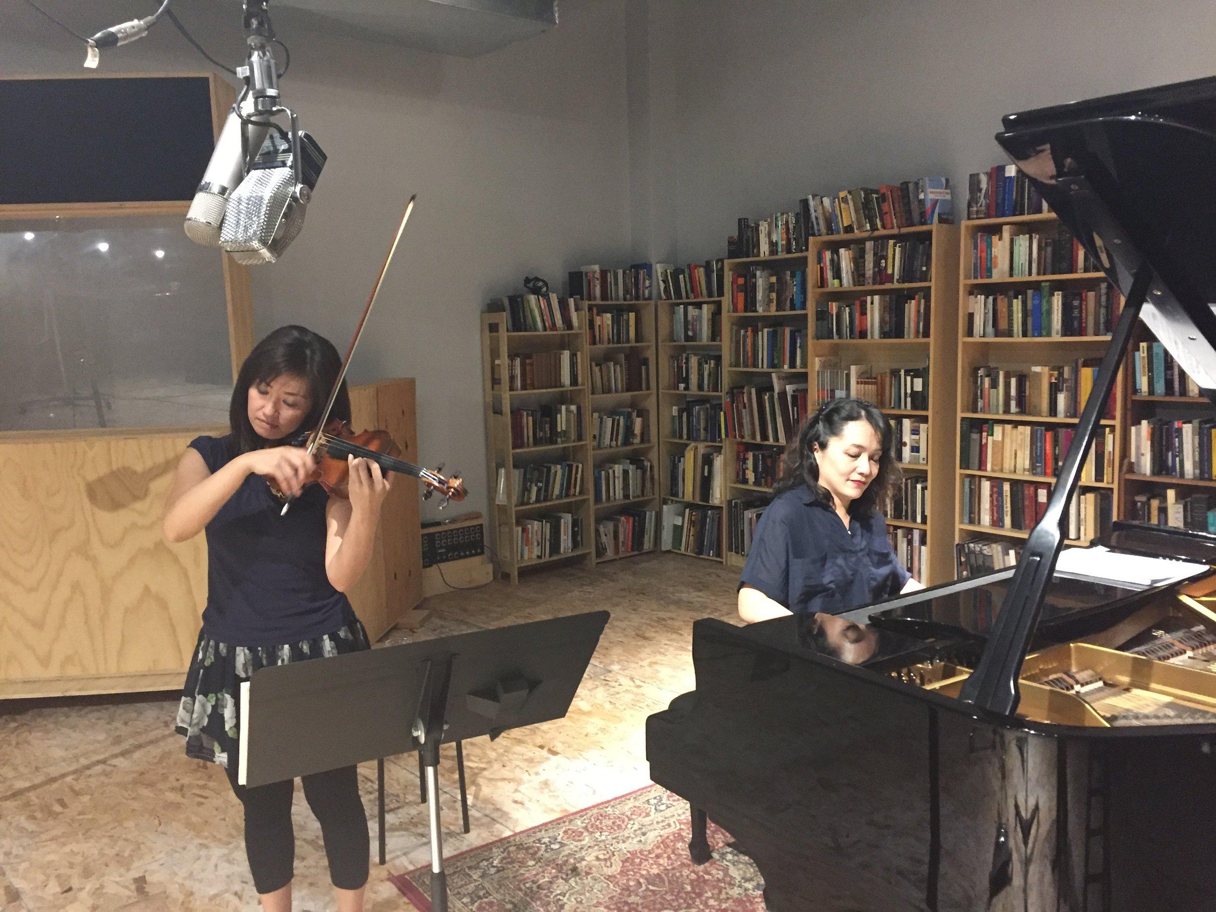 recording session with Ayako Shirasaki in Aug, 2016