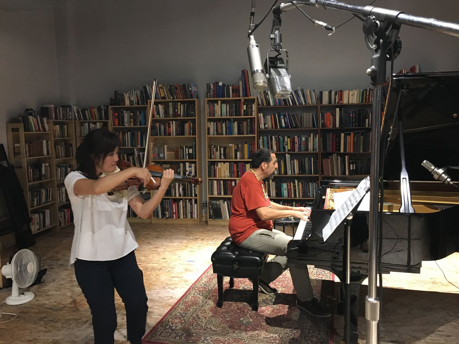 recording session with Alon Yavnai in Sep, 2016