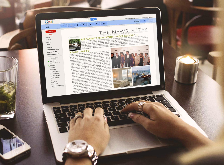 WEB UPDATES & NEWSLETTERS