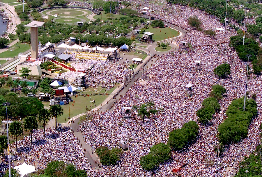 Visita do Papa no Aterro do Flamengo.