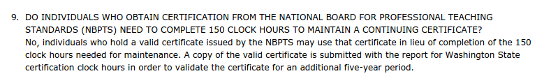 I promise you many NBCTs in Washington have no idea about this.