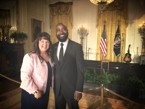 In the East Room with 2016 Alaska Teacher of the Year, Amy Jo Meiners.
