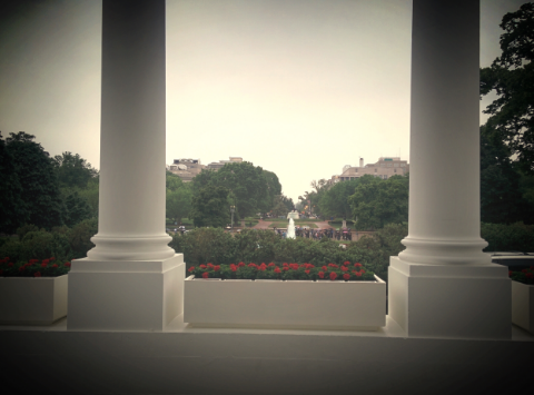 My view from the front porch of 1600 Pennsylvania Ave.