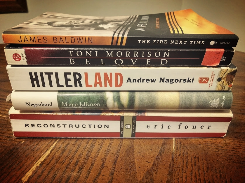 My current to read or re-read pile.