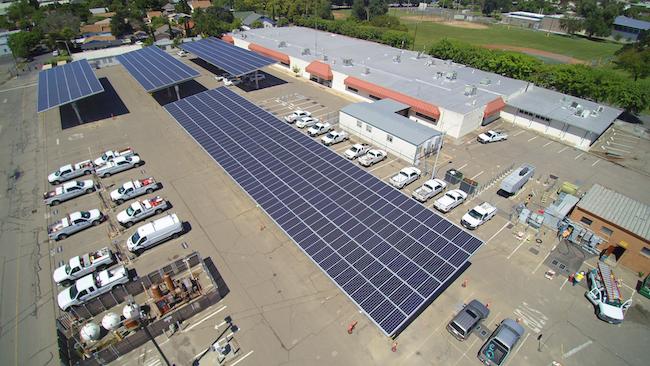 Hazelton Corporate Yard - 600 kW Parking Shade Structures
