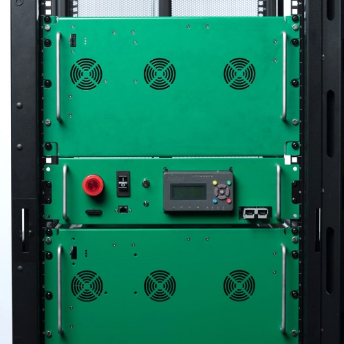 Example of a stationary energy storage rack module. (Source:  UEP )