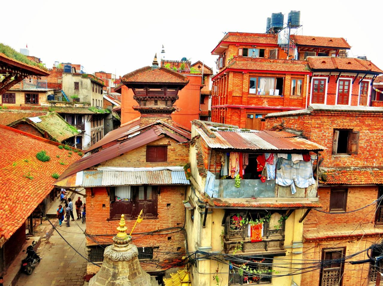 Houses in Kathmandu.