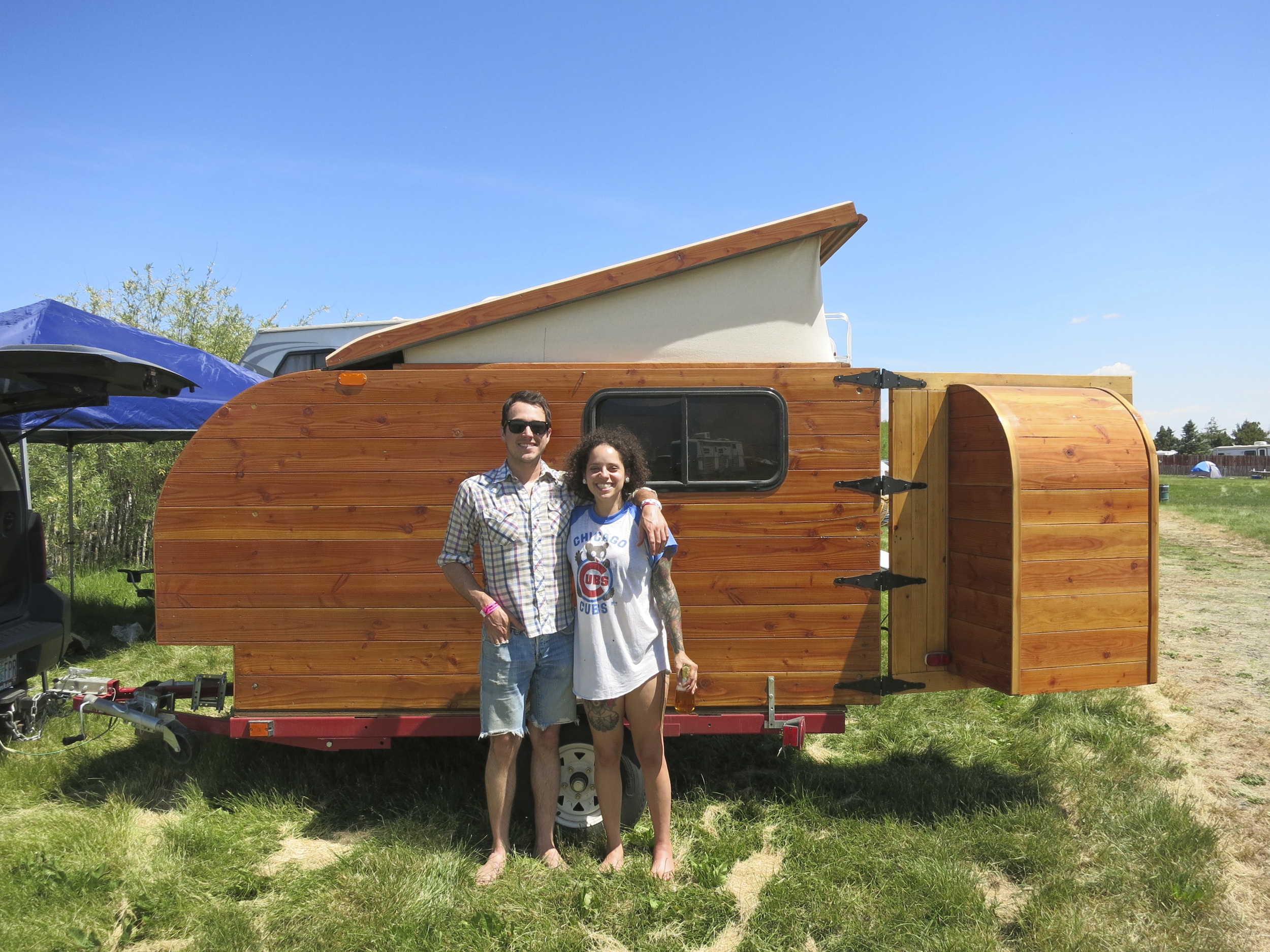 Our new friends had a rad homebuilt trailer