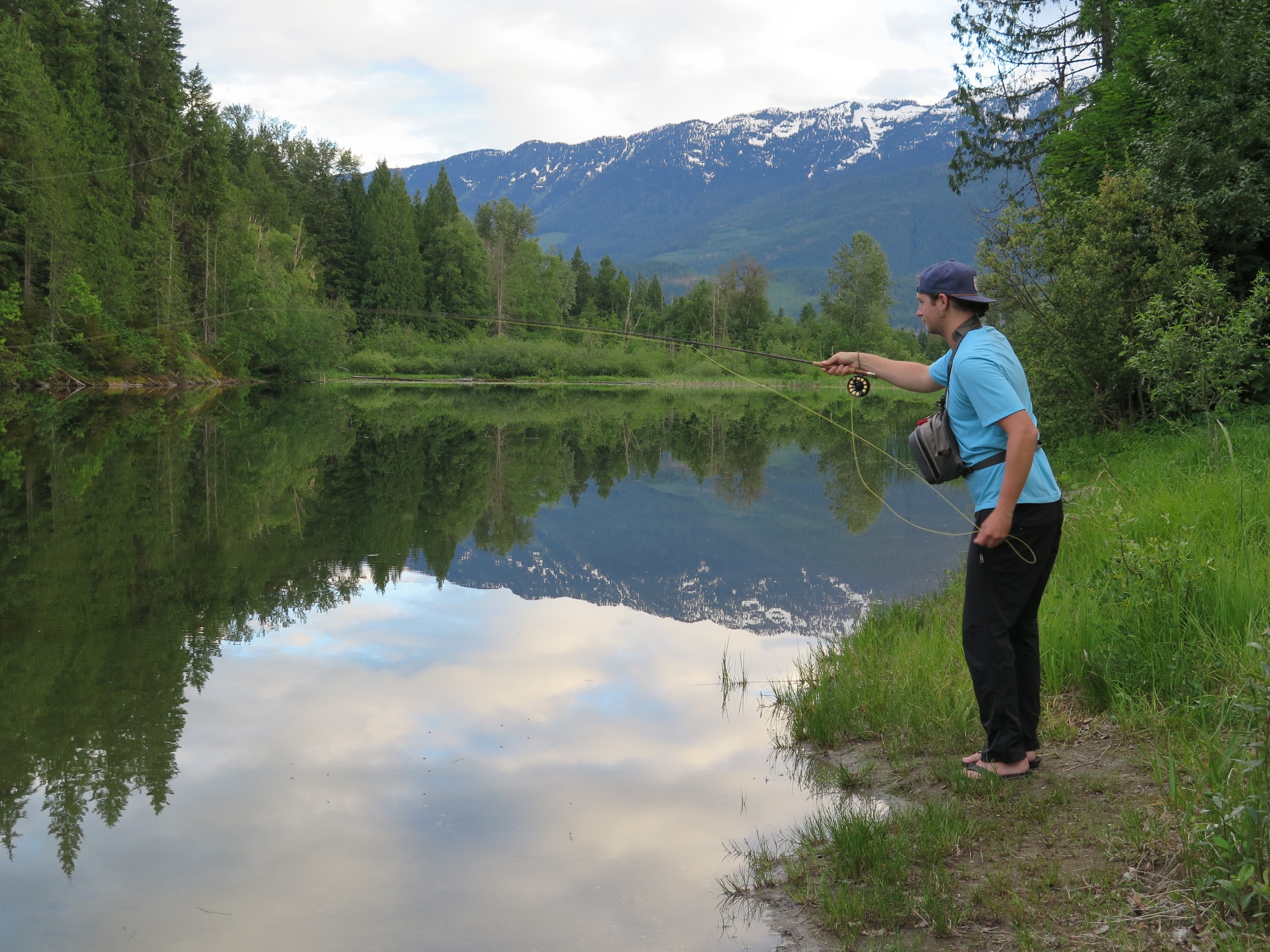 Jeff fishing in Revelstoke