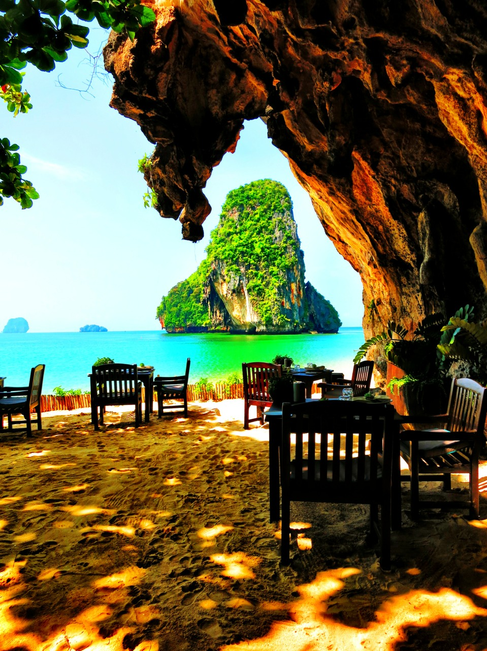 The Grotto restaurant located in a cave. Part of the Rayavadee Hotel.