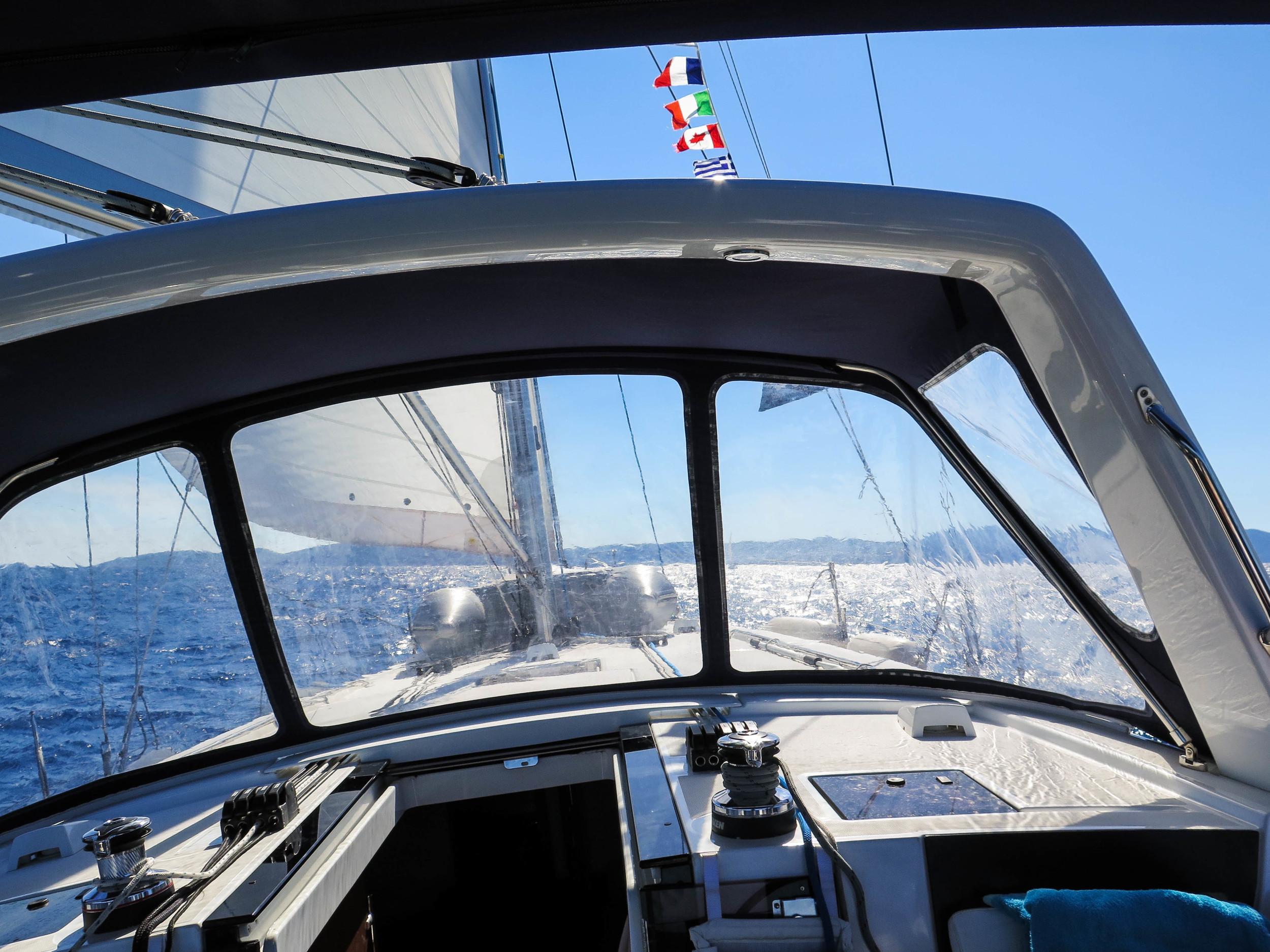 Sailing to Hvar island