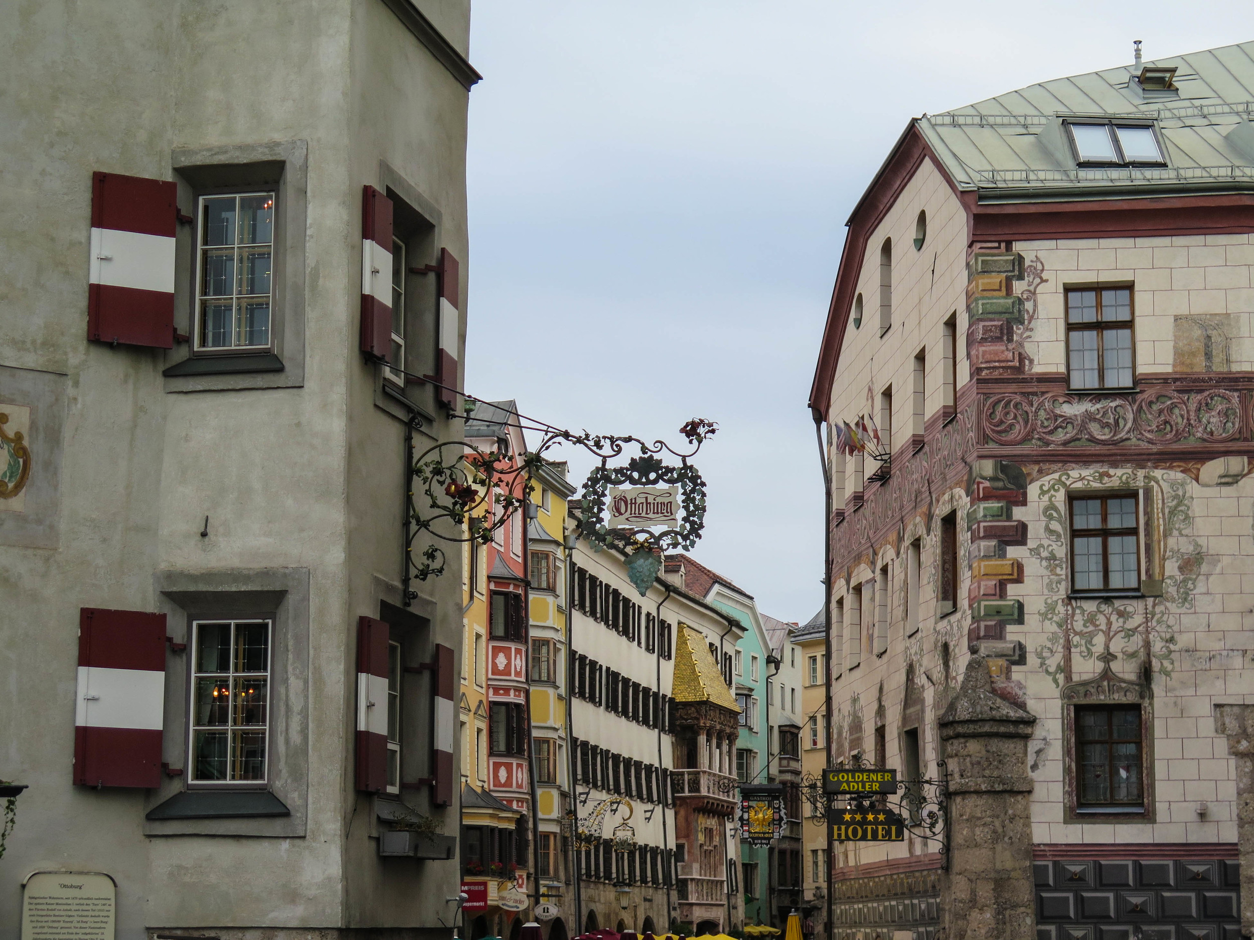 The streets of Innsbruck are adorable.