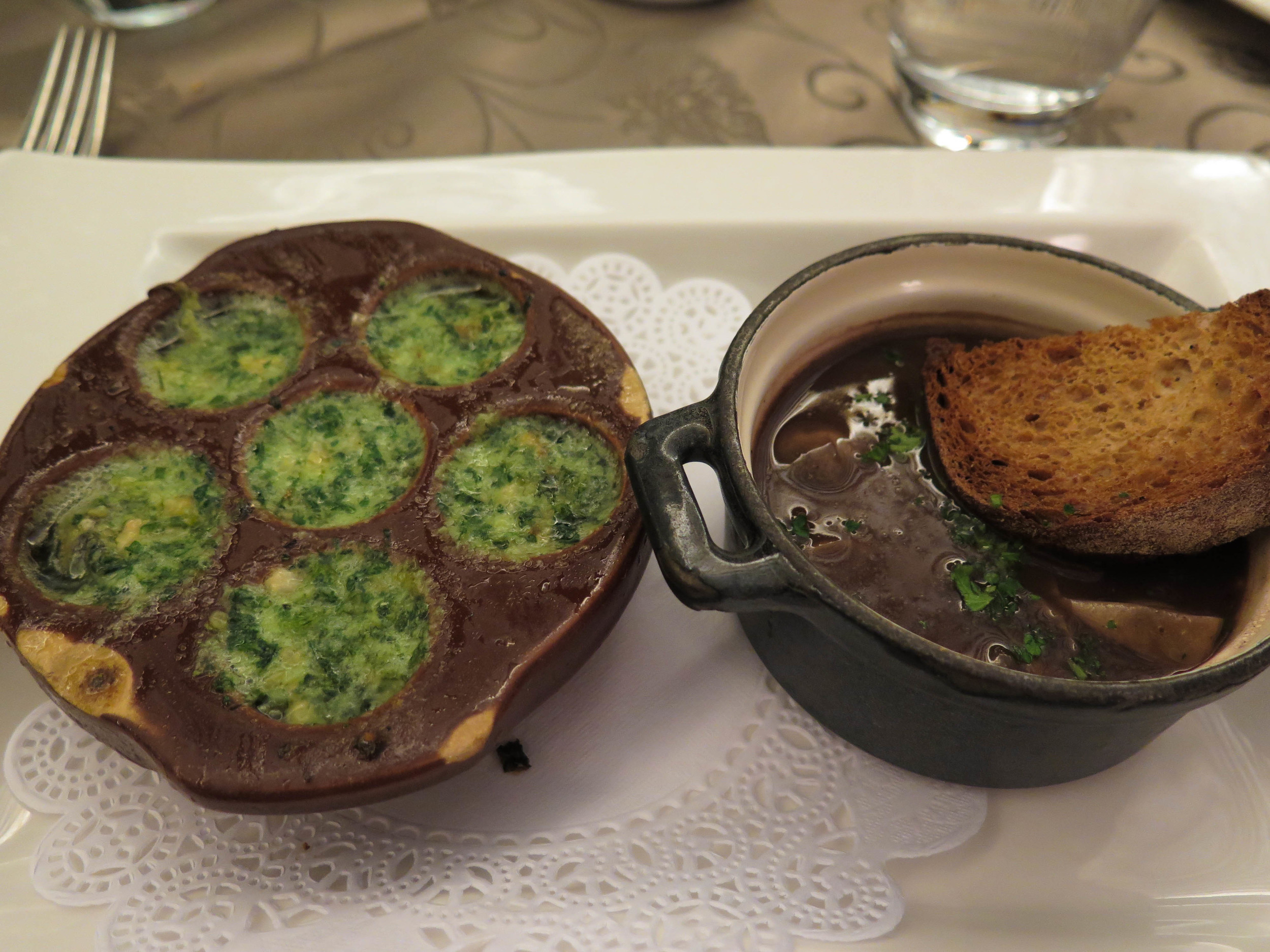 escargot and oeufs en meurette
