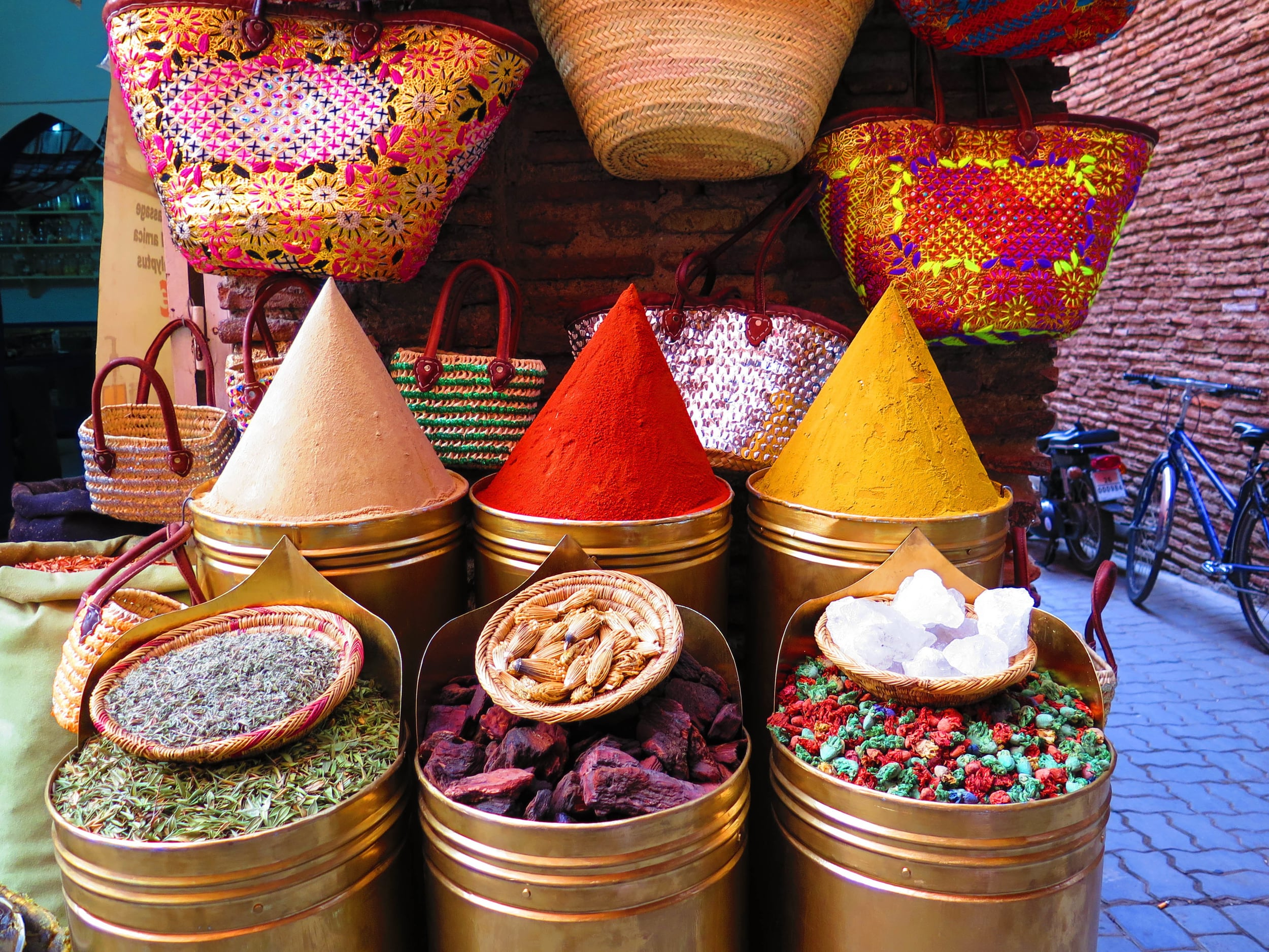 Various spices for sale