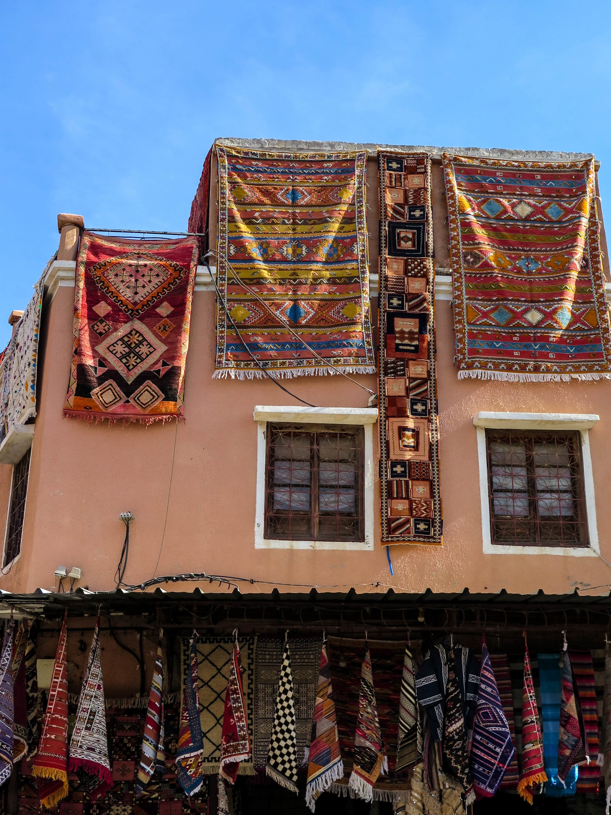 Morocco is known for it's Berber rugs. Many people come here to buy these unique rugs..
