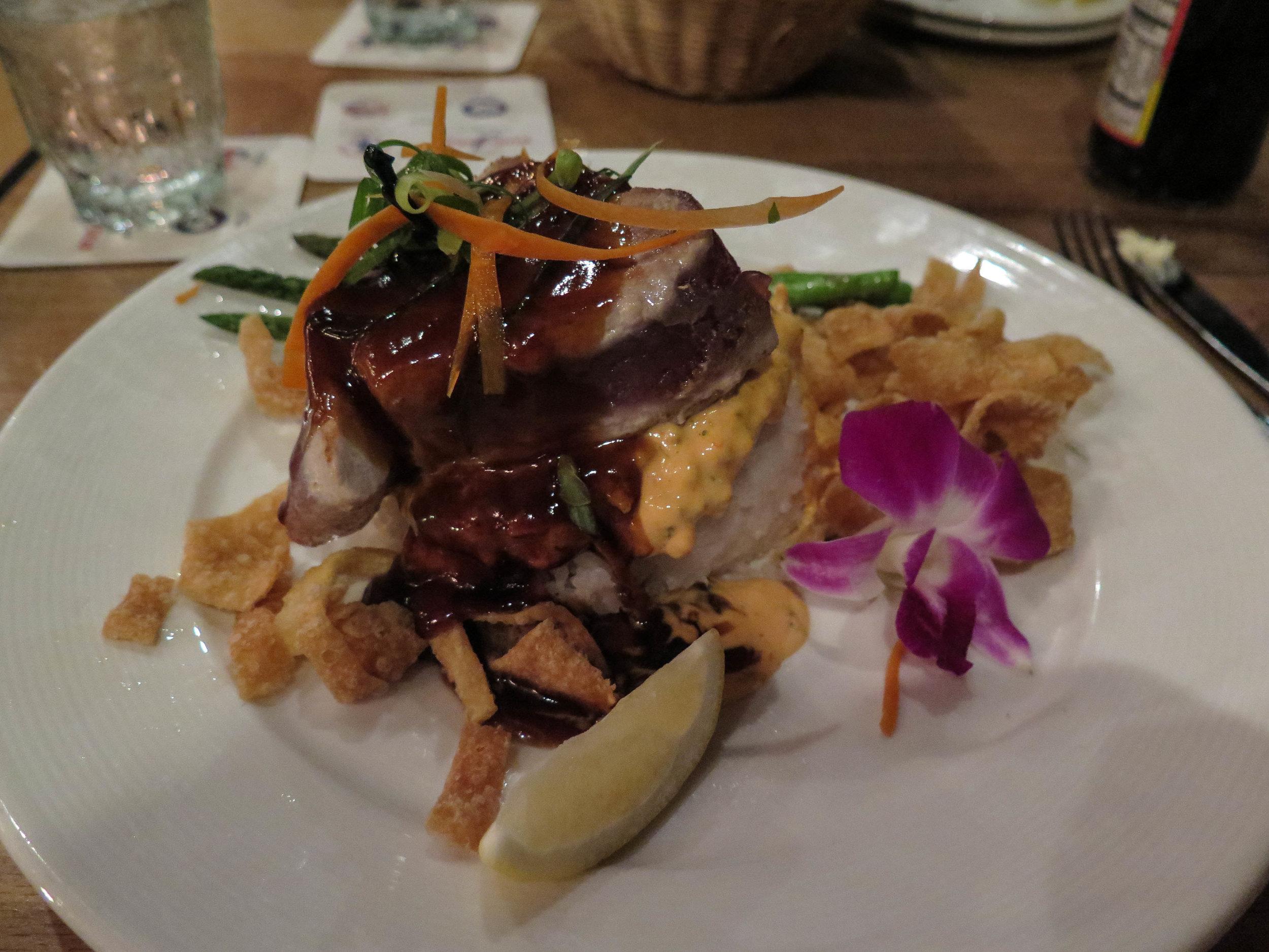Ahi dish at the Konna Inn