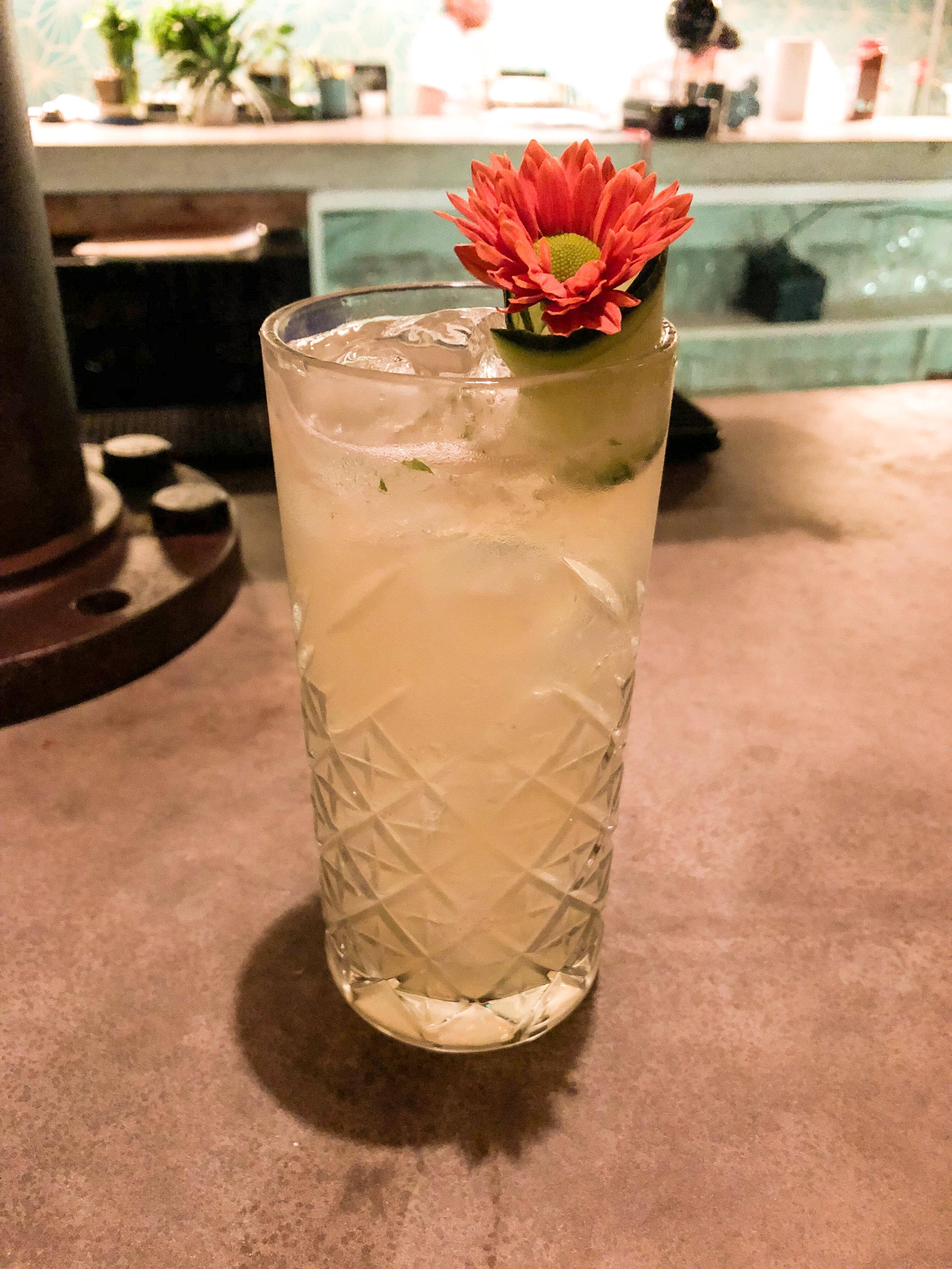 Beautiful cocktail at Luuna