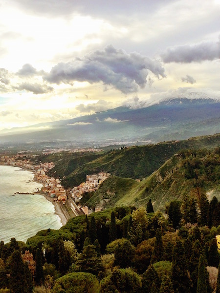 TAORMINA with Mt Etna in the background