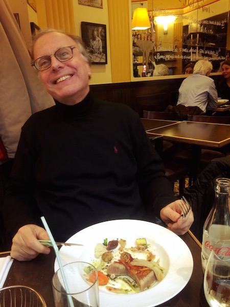 Papa finishing lunch in the 6eme