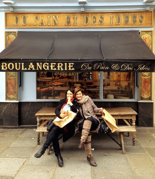 Aunties Michèle and Lisette at the best bakery in Paris...