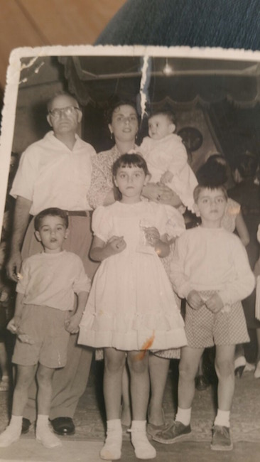 The Cohens in Tunis, 1957. My father is the boy on the right.