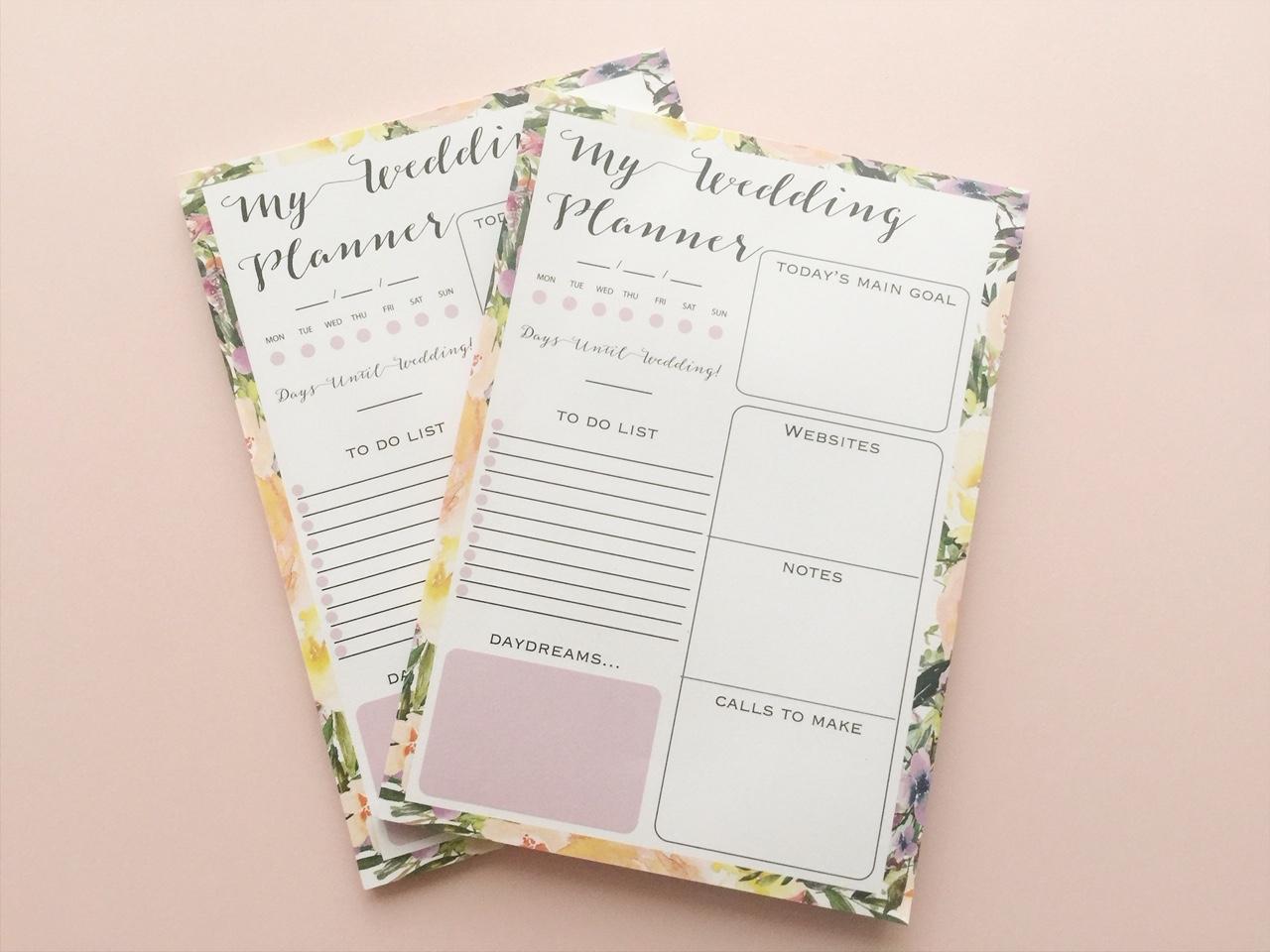 Wedding Planner Notepad