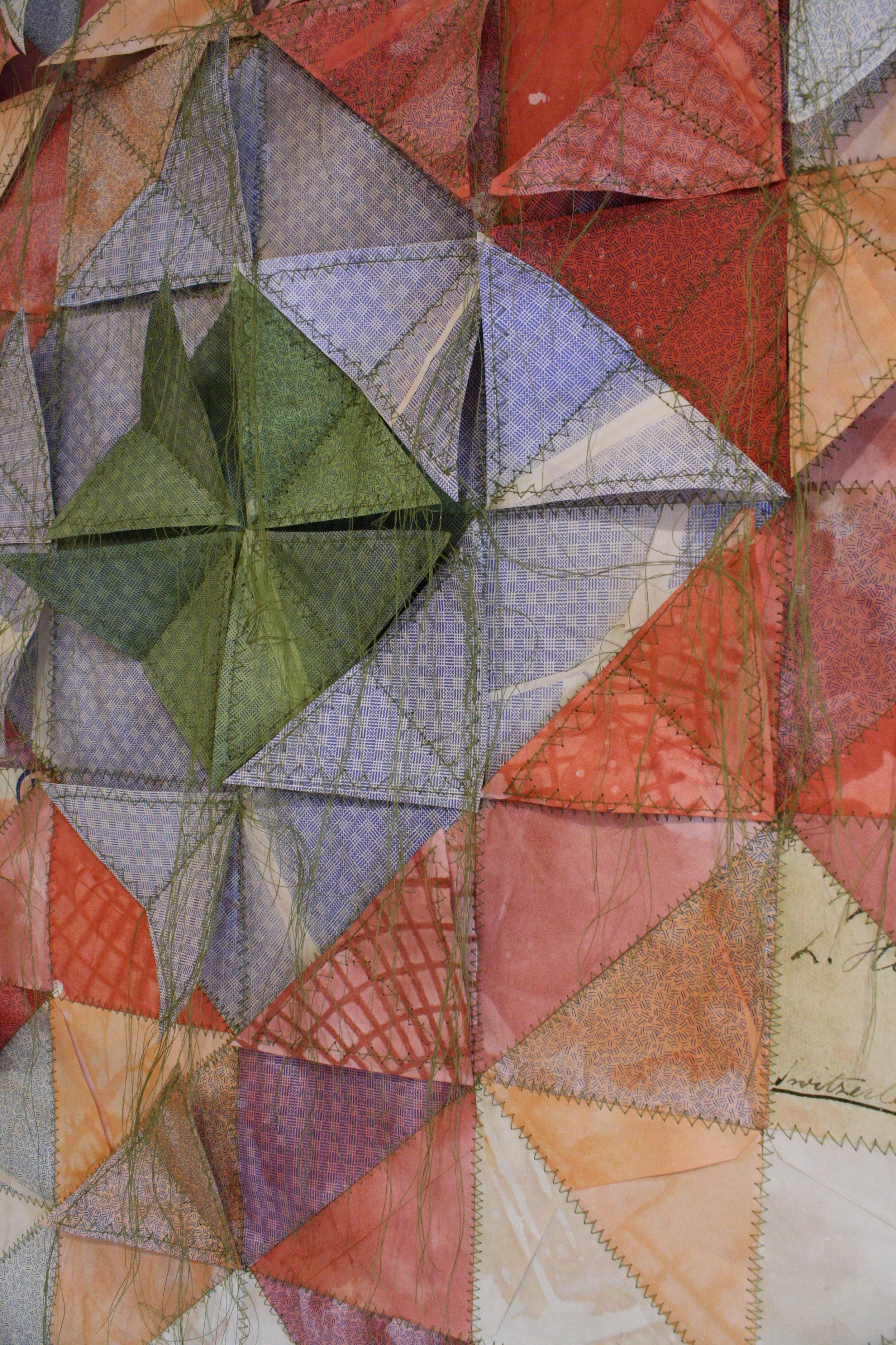 envelopes, thread, tea, dye