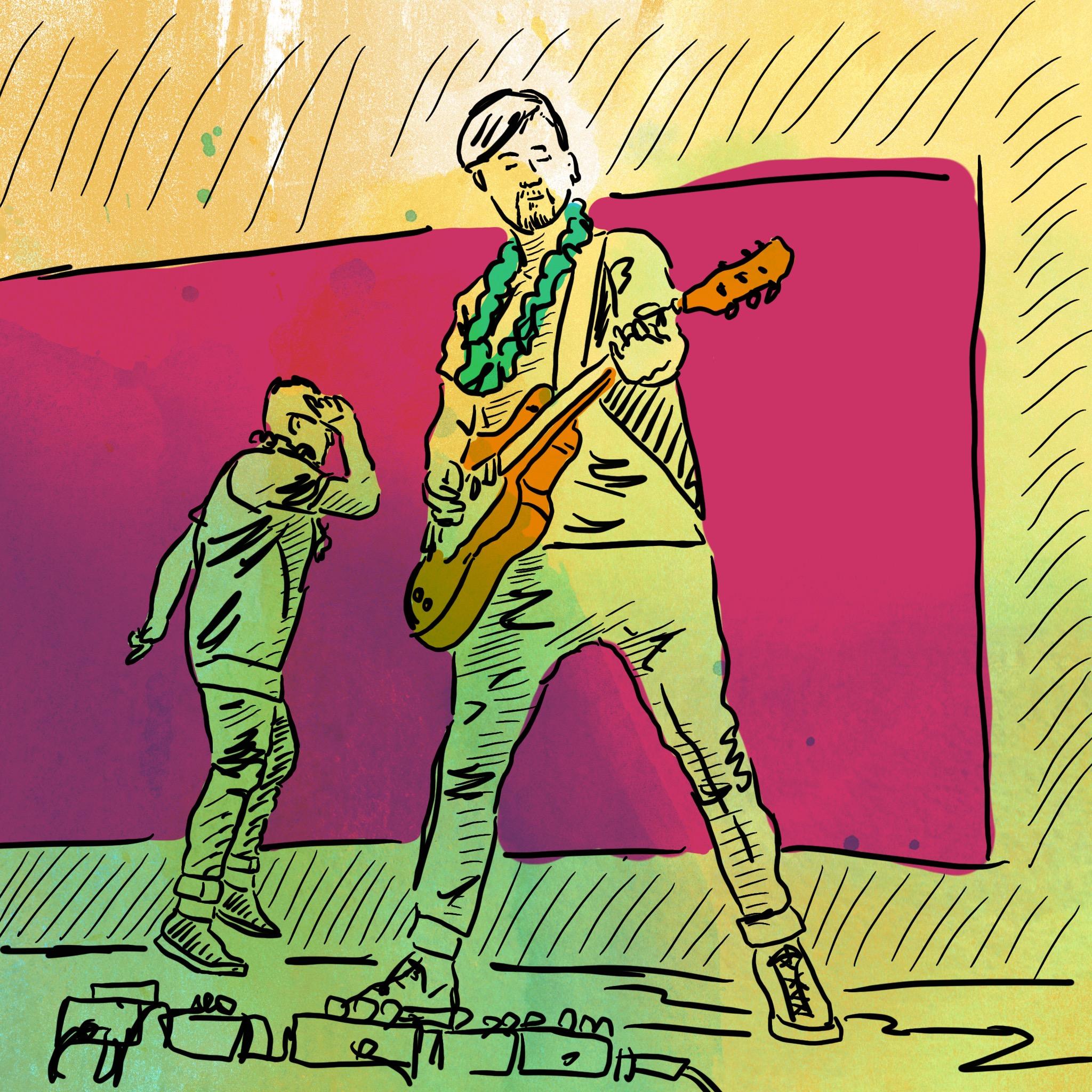 Liquid Band on Stage