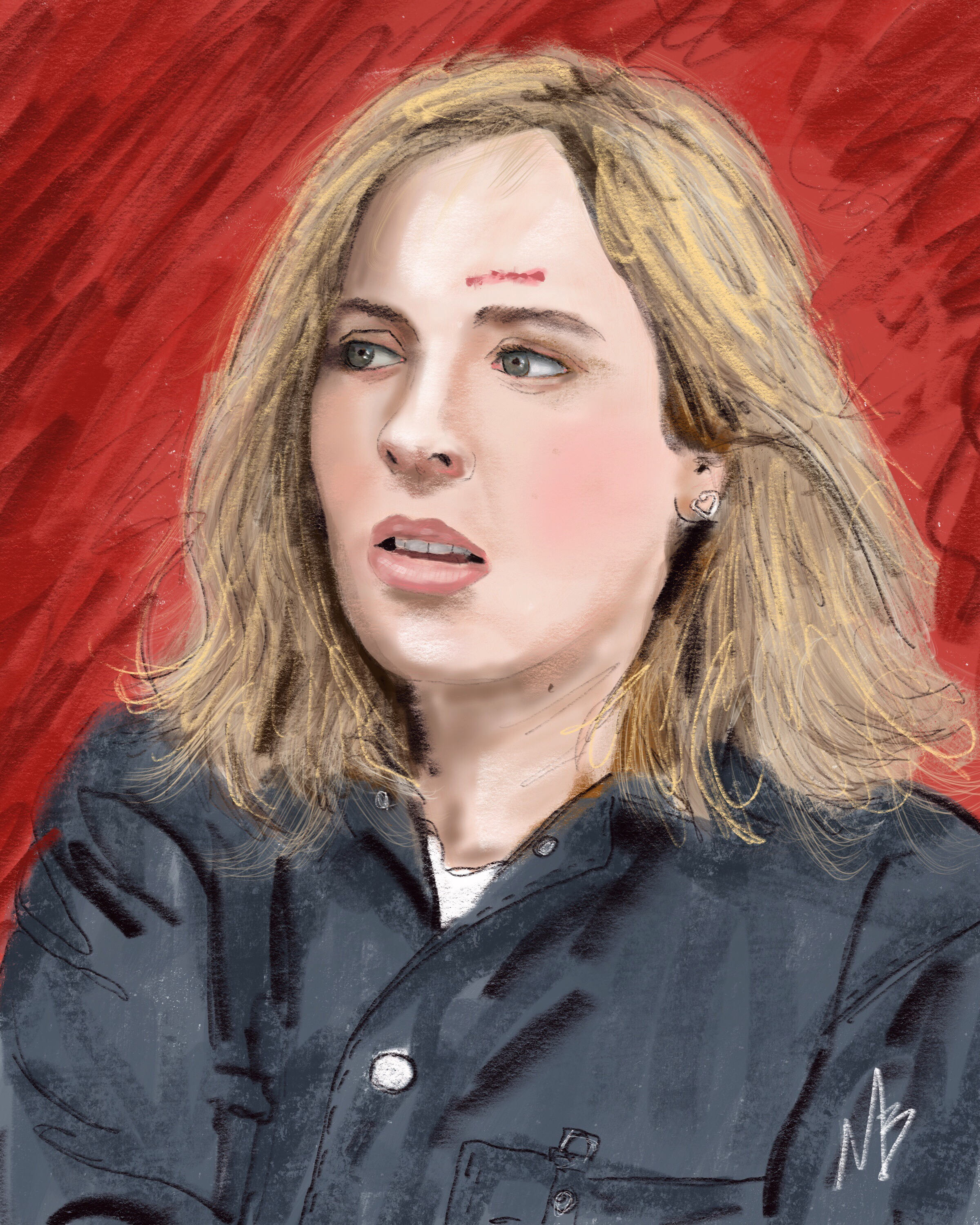 Just finished watching @trvlrsseries on @netflix - best part was @mackenziepmusic performance. Really liked the show. 👍🏻😎 #digitalart #fanart #travelerstvshow #netflix #digitalpainting #mackenzieporter #scifi #art #artist #portrait #actress #tv