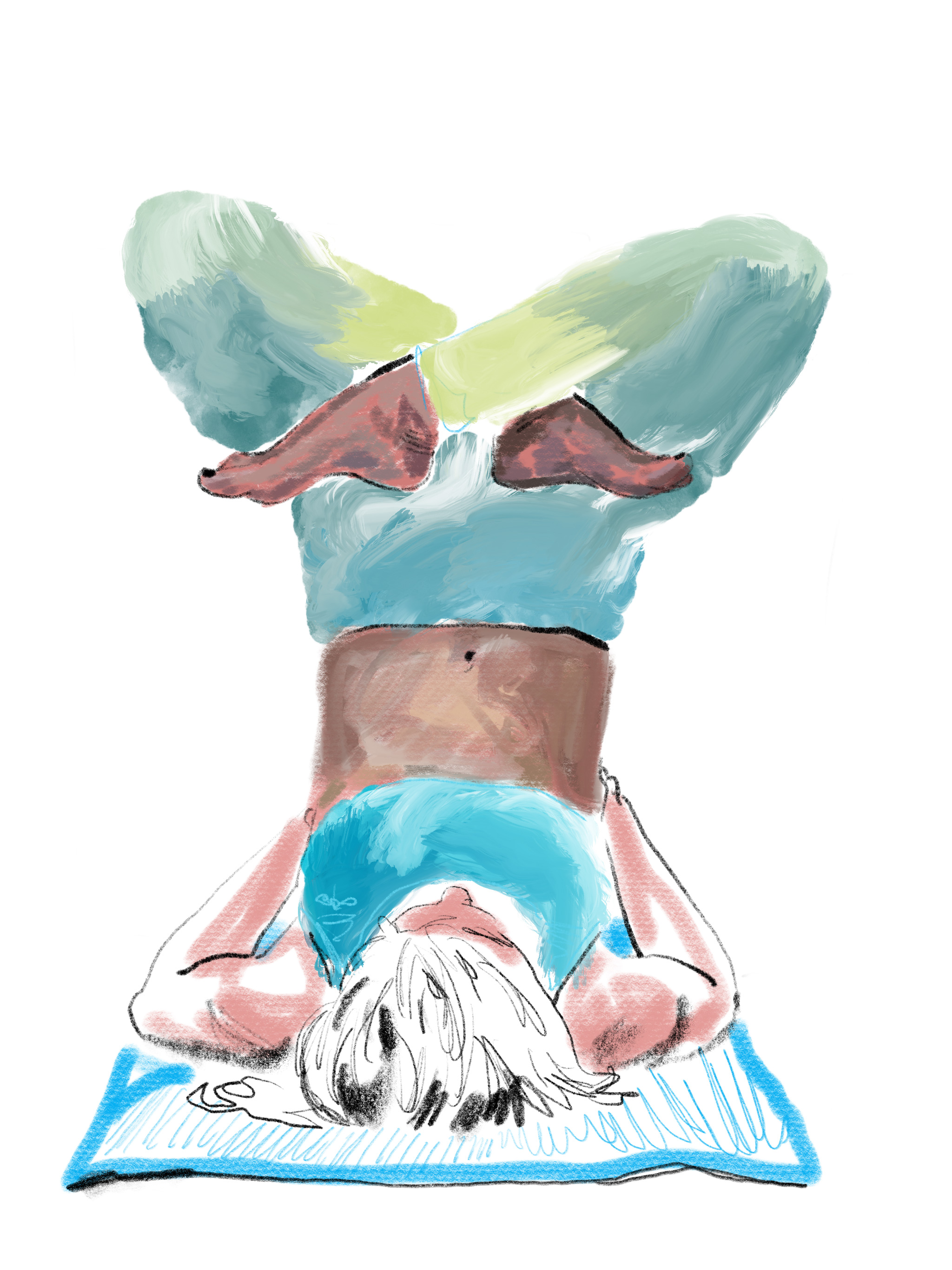 Yoga Portrait Art