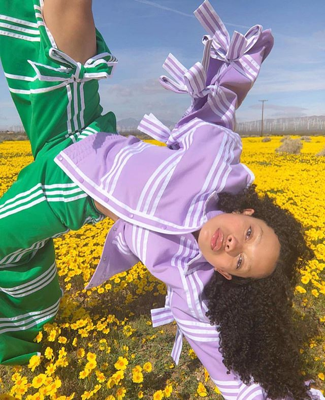 COLOR AND FREEDOM 💜💚💛 these pics make me so happy @guvmanian #adidasOriginalsbyJiWonChoi