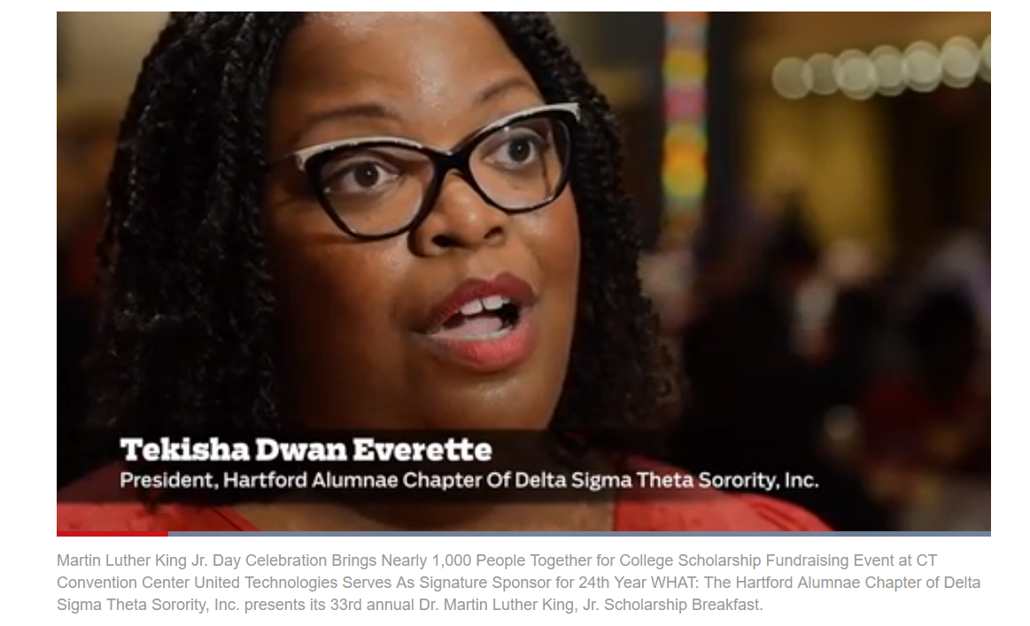 The Hartford Alumnae Chapter of Delta Sigma Theta Sorority, Inc. featured in a Hartford Courant video in 2018.