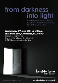 from darkness into light concert image