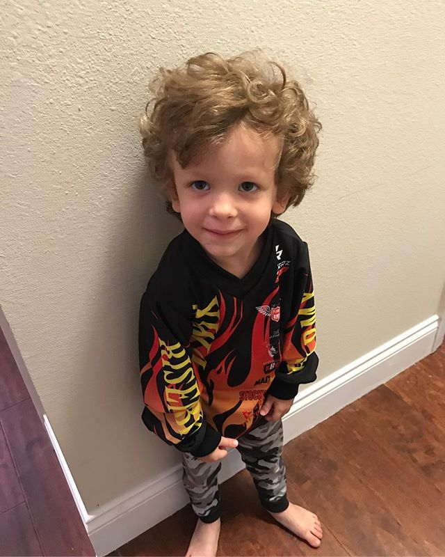 Little dude right here showing his support so awesome to see this he just started racing at the BMX track not too long ago keep ripping