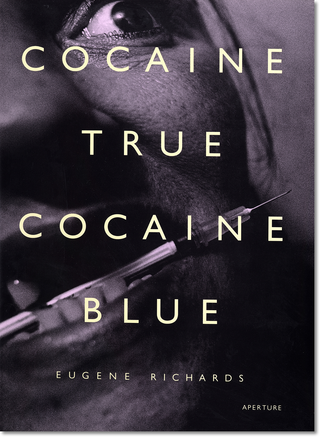 Cocaine True, Cocaine Blue   is an in-depth and intimate look at the embattled lives of addicts, drug dealers, sex workers and police in three inner-city communities.  Aperture, 1994