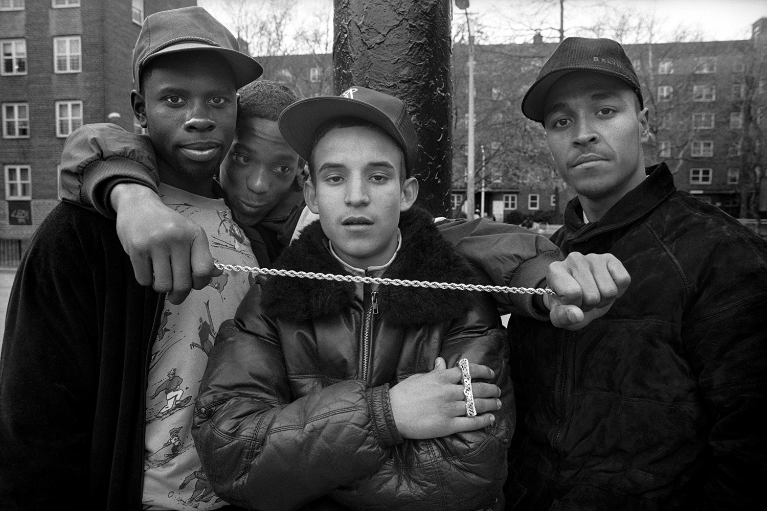 Street gang  Red Hook Houses, Brooklyn, NY.  1988