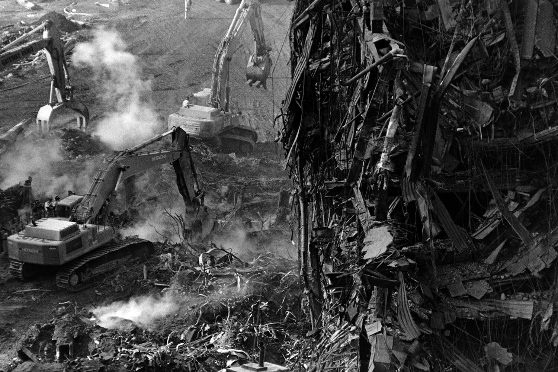 Grapplers at Ground Zero  New York, NY. 2001