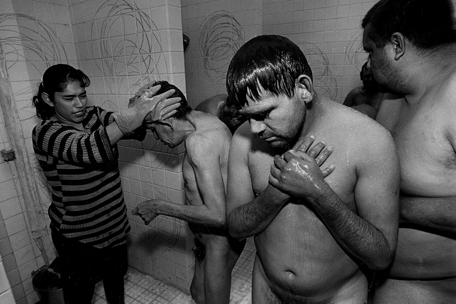 Ice cold showers with no towels  Ocaranza Psychiatric Institute Hidalgo, Mexico 1999