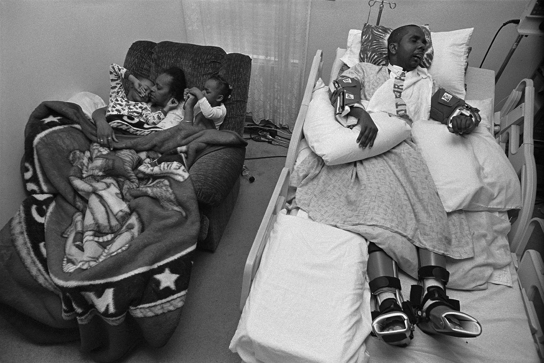 Injured Iraq War vet, Shurvon Phillip, and his mother, Gail Ulerie  Richmond Heights, OH. 2008
