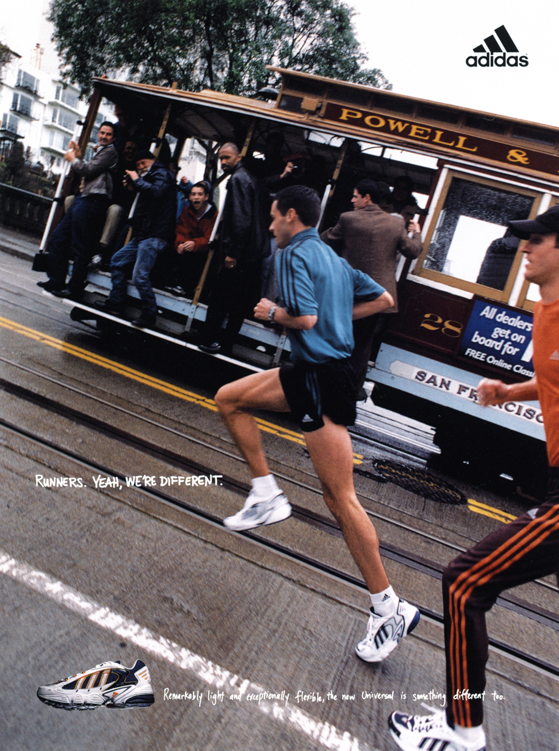 """adidas""""Runner's, yeah we're different"""" Campaign  Leagas Delaney, San Francisco 1999"""
