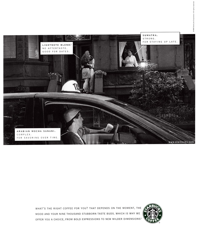 Starbucks Taste Spectrum Campaign  BBDO, Los Angeles 1998